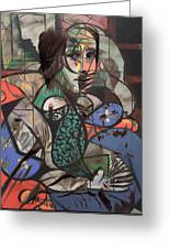Picasso And Me  Greeting Card by Jerry Cordeiro