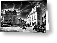 Piccadilly Circus Greeting Card by John Rizzuto