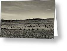 Picketts Charge From Seminary Ridge In Black And White Greeting Card by Joshua House