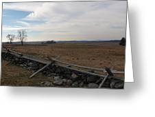 Picketts Charge The Angle Greeting Card by Joshua House