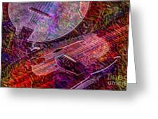 Pickin And A Grinnin Digital Banjo And Guitar Art By Steven Langston Greeting Card by Steven Lebron Langston
