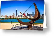Picture Of Chicago Adler Planetarium Sundial Greeting Card by Paul Velgos