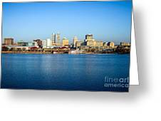 Picture Of Peoria Illinois Skyline Greeting Card by Paul Velgos