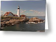 Picturesque Portland Head Light Greeting Card by Juergen Roth