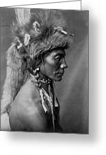 Piegan Indian Circa 1910 Greeting Card by Aged Pixel