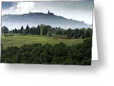 Pienza Tuscany Greeting Card by Al Hurley