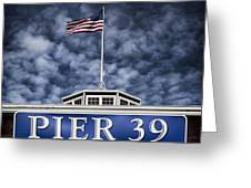 Pier 39 Greeting Card by Dave Bowman