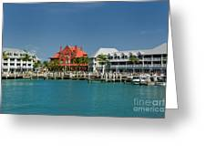 Pier Key West Florida Greeting Card by Amy Cicconi