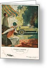 Pierce Arrow 1925 1920s Usa Cc Cars Greeting Card by The Advertising Archives