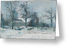 Piettes House At Montfoucault Greeting Card by Camille Pissarro