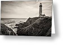 Pigeon Point Light Greeting Card by Heather Applegate