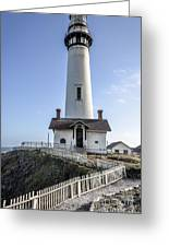 Pigeon Point Lighthouse Greeting Card by Amy Fearn