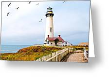 Pigeon Point Lighthouse Greeting Card by Artist and Photographer Laura Wrede