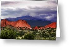Pikes Peak Storm Greeting Card by Rod Seel