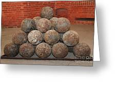 Pile Of Cannon At San Francisco Fort Point 5d21493 Greeting Card by Wingsdomain Art and Photography