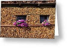 Pile Of Firewood Greeting Card by Elzbieta Fazel