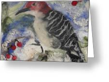 Pileated Wood Pecker Greeting Card by Shakti Chionis