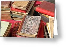 Piles Of Old Books Greeting Card by Kiril Stanchev