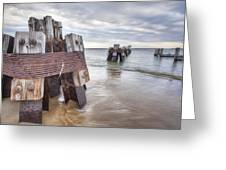 Pilings Greeting Card by Eric Gendron