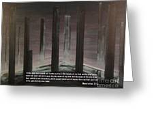 Pillars Greeting Card by Wayne Cantrell