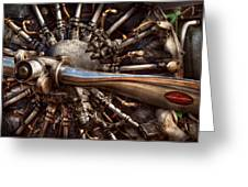 Pilot - Plane - Engines At The Ready  Greeting Card by Mike Savad