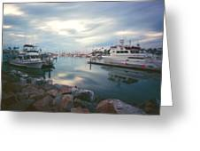 Pinhole Oceanside Harbor Greeting Card by Hugh Smith
