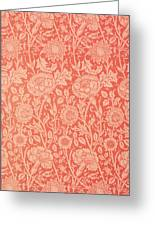 Pink And Rose Wallpaper Design Greeting Card by William Morris