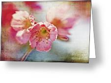 Pink Blossom Greeting Card by Scott Pellegrin