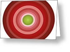 Pink Circles Greeting Card by Frank Tschakert