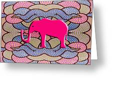 Pink Elephant Greeting Card by Patrick J Murphy