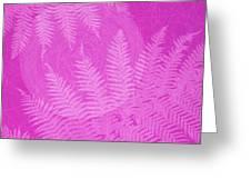 Pink Fern Pattern Greeting Card by Tim Gainey