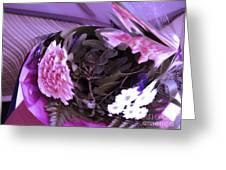 Pink Flowers Greeting Card by Gabriele Mueller