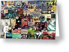 Pink Floyd Collage II Greeting Card by Taylan Soyturk