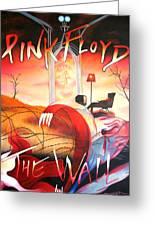 Pink Floyd The Wall Greeting Card by Joshua Morton