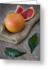 Pink Grapefruit Greeting Card by Sabino Parente