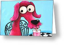 Pink Milk Greeting Card by Lucia Stewart