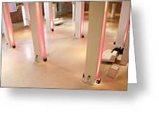 Pink Pillars I Greeting Card by Anna Villarreal Garbis