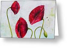 Pink Poppies 2 Greeting Card by Bitten Kari