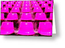 Pink Seats Greeting Card by Michael Knight