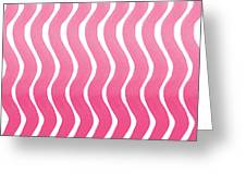 Pink Waves- Abstract Watercolor Pattern Greeting Card by Linda Woods
