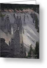 Pinnacles Valley Greeting Card by Sharon Elliott