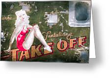 Pinup Girl - Aircraft Nose Art - Take Off Anne Greeting Card by Gary Heller
