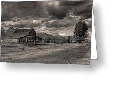 Pioneer Barn D9369 Greeting Card by Wes and Dotty Weber