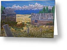 Pioneer Homestead Greeting Card by Stanza Widen