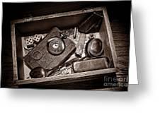 Pioneer Keepsake Box Greeting Card by American West Legend By Olivier Le Queinec
