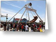 Pirate Ship At The Santa Cruz Beach Boardwalk California 5d23854 Greeting Card by Wingsdomain Art and Photography
