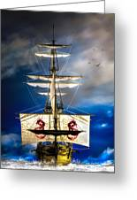 Pirates Greeting Card by Bob Orsillo