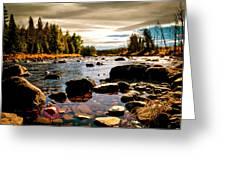 Piscataquis River Dover-foxcroft Maine Greeting Card by Bob Orsillo