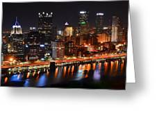 Pittsburgh From Above Greeting Card by Frozen in Time Fine Art Photography