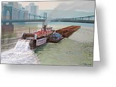 Pittsburgh River Boat-1948 Greeting Card by Paul Krapf